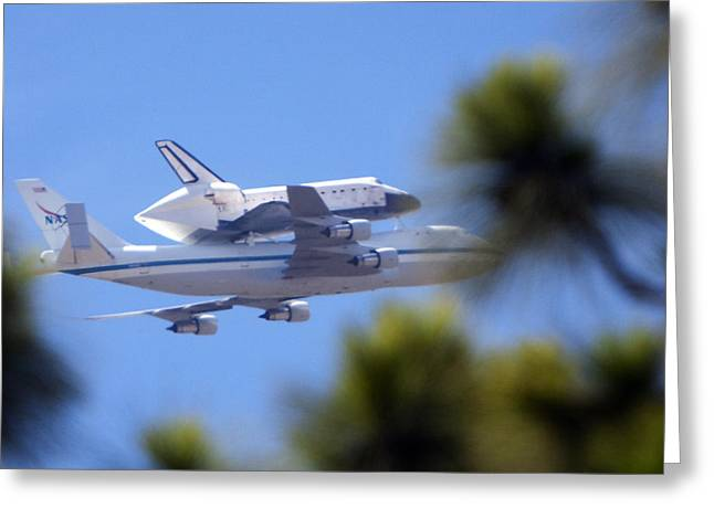 Space Shuttle Greeting Cards - Endeavors Last Flight  Greeting Card by Gilbert Artiaga