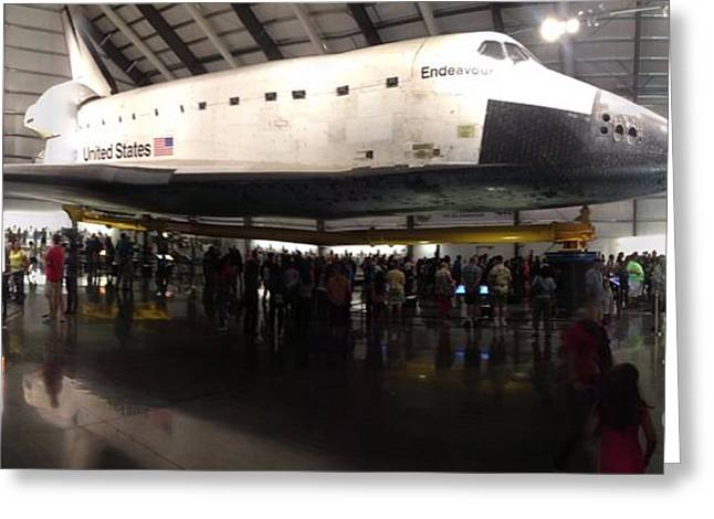 Endeavour Space Shuttle Greeting Card by Susan Garren