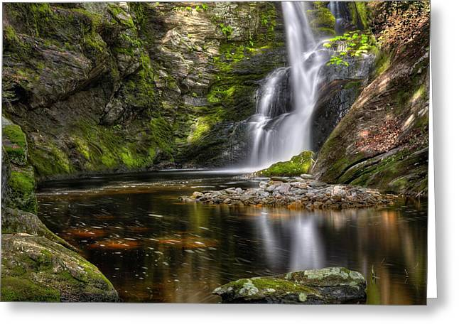 Falling Water Greeting Cards - Enders Falls Greeting Card by Bill  Wakeley