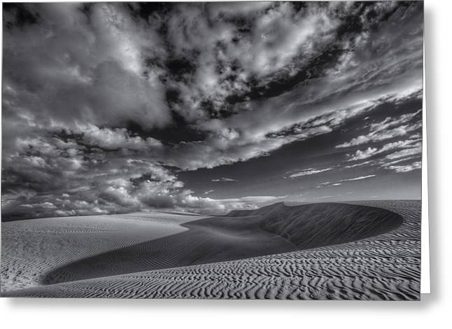 Oceano Greeting Cards - Endless Black and White Greeting Card by Beth Sargent