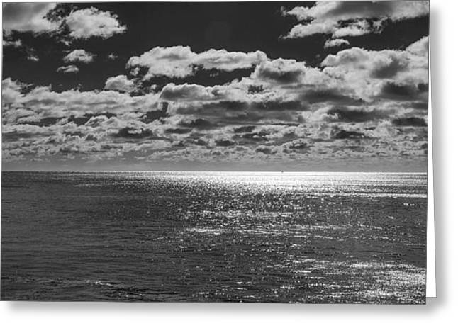 Ocean Black And White Prints Greeting Cards - Endless Clouds II Greeting Card by Jon Glaser