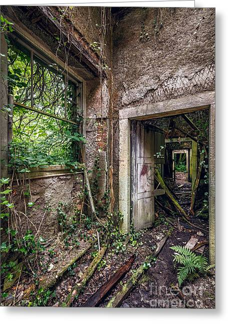 Dilapidated Digital Art Greeting Cards - Endless Decay Greeting Card by Adrian Evans