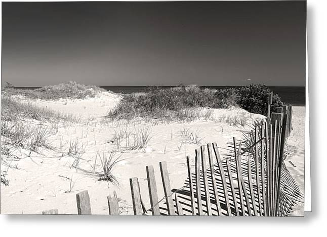 Sand Fences Greeting Cards - Endless Possibilities Greeting Card by Michelle Wiarda
