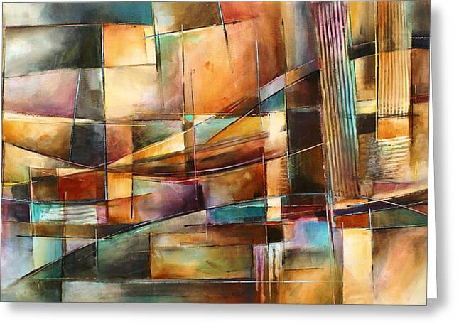 Geometric Design Greeting Cards - Endless Shift Greeting Card by Michael Lang