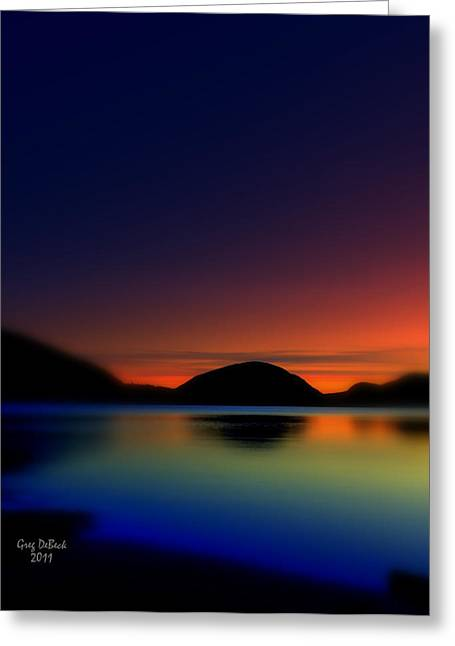 Maine Shore Greeting Cards - Endless Sleep Greeting Card by Greg DeBeck
