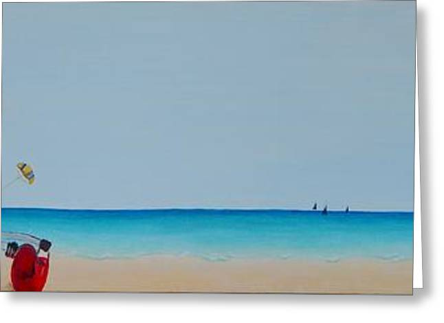 Blue Sailboats Greeting Cards - Endless Summer Greeting Card by Mary Deal