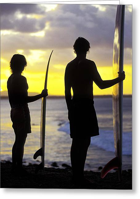 Silhouettes Greeting Cards - Endless Summer Greeting Card by Sean Davey