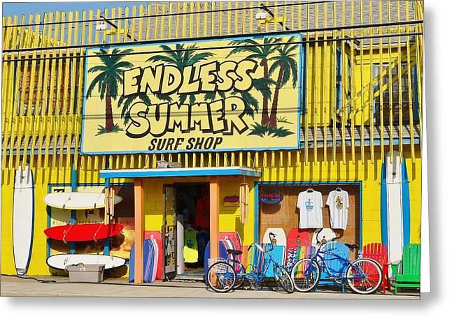Surf City Greeting Cards - Endless Summer Surf Shop - Ocean City Maryland Greeting Card by Kim Bemis