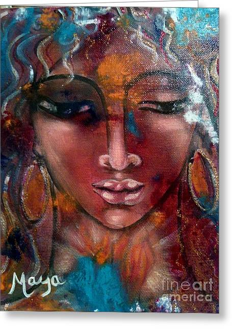 The Sacred Feminine Greeting Cards - Endurance Greeting Card by Maya Telford