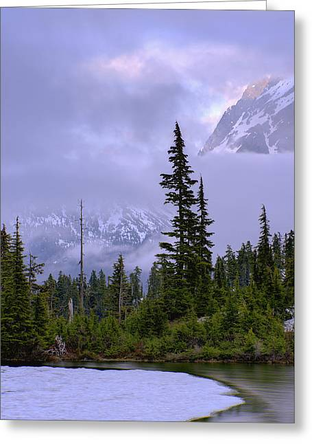 North Cascades Greeting Cards - Enduring Winter Greeting Card by Chad Dutson