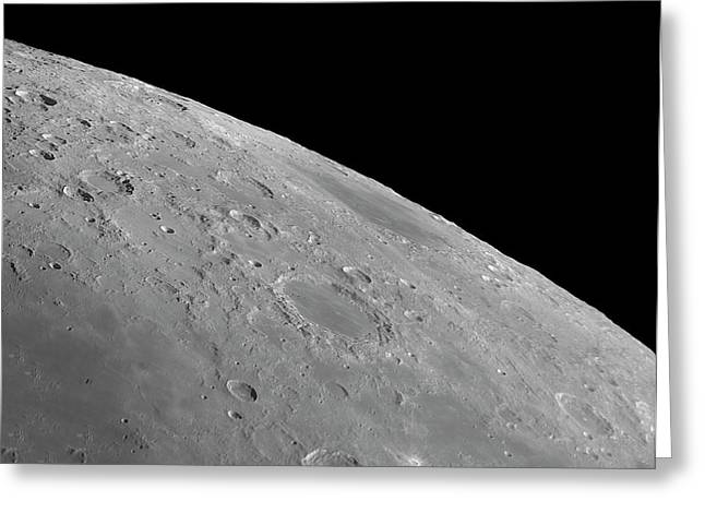 Endymion Crater And Mare Humboldtianum Greeting Card by Damian Peach