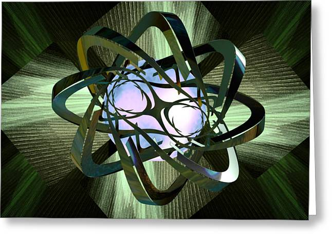 Neutron Greeting Cards - Energized Greeting Card by Elizabeth S Zulauf