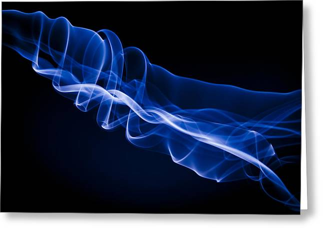 Fume Greeting Cards - Energy Beam Greeting Card by Richard ONeil