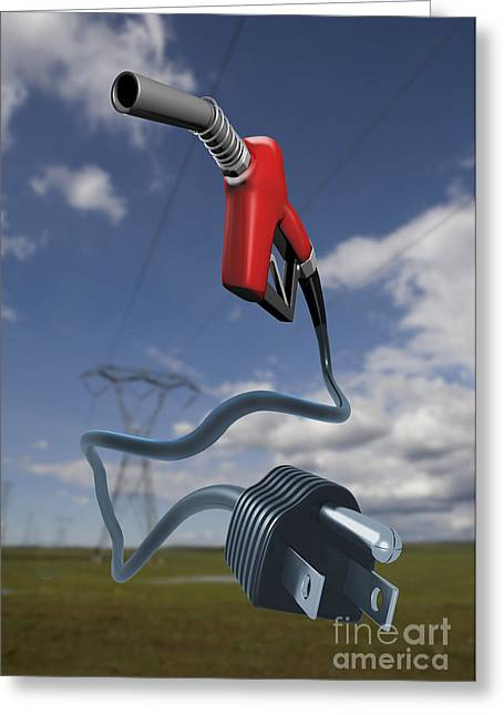 Electrical Plug Greeting Cards - Energy Concept Greeting Card by Mike Agliolo