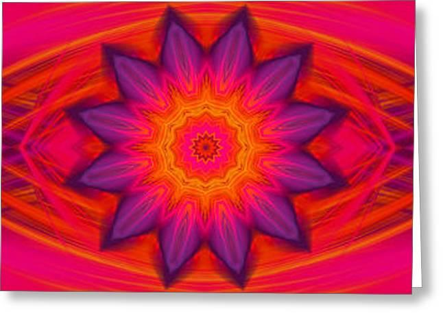 Modern Digital Art Digital Art Greeting Cards - Energy Flower Greeting Card by Hanza Turgul