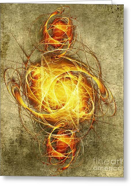 Recently Sold -  - Reflex Greeting Cards - Energy I Greeting Card by Diuno Ashlee