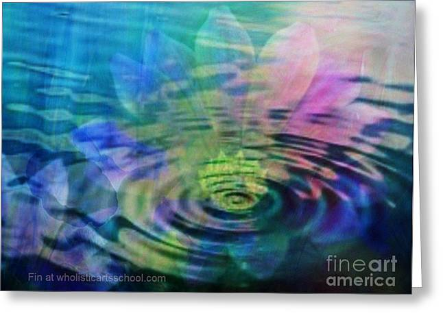 Inner Self Paintings Greeting Cards - Energy Ripples Greeting Card by PainterArtist FIN