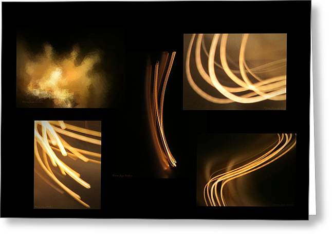 Frequency Products Digital Art Greeting Cards - Energy The Gift of Light Greeting Card by Joyce Dickens