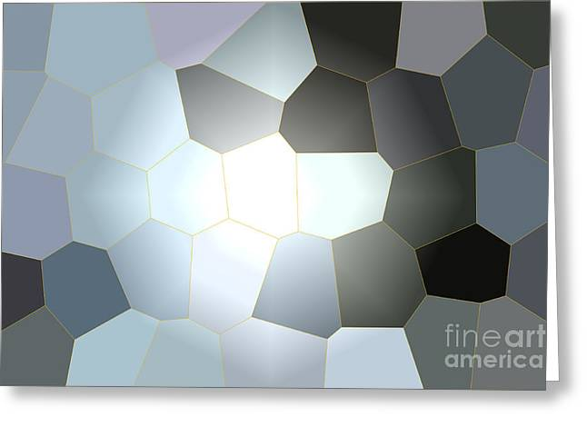 Energy Within - Abstract Art Greeting Card by Carol Groenen