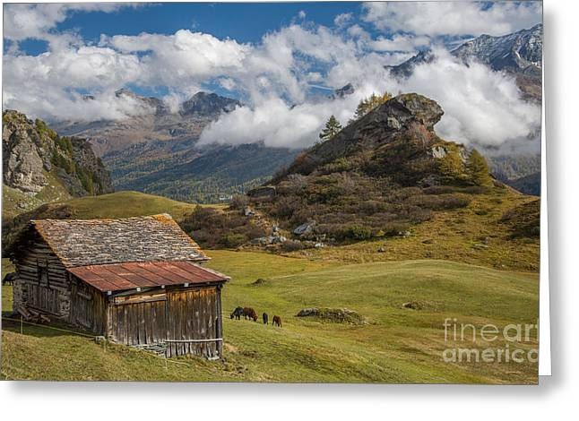Best Sellers -  - Swiss Photographs Greeting Cards - Engadine - Heaven on Earth Greeting Card by Ning Mosberger-Tang