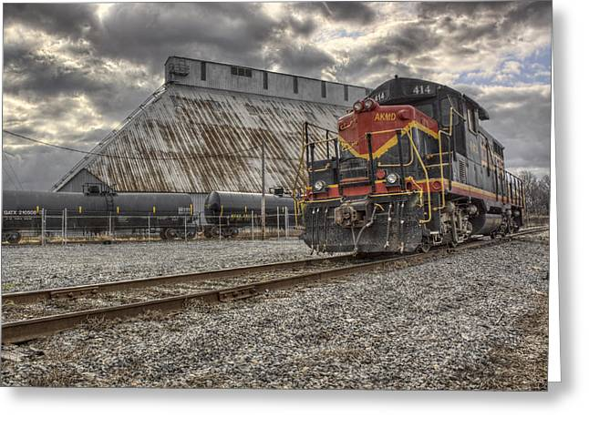 Railyard Greeting Cards - Engine 414 Greeting Card by Jason Politte