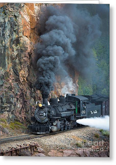 Narrow Greeting Cards - Engine 480 Greeting Card by Inge Johnsson