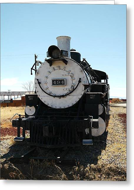Old Relics Photographs Greeting Cards - Engine 494  Greeting Card by Jeff  Swan