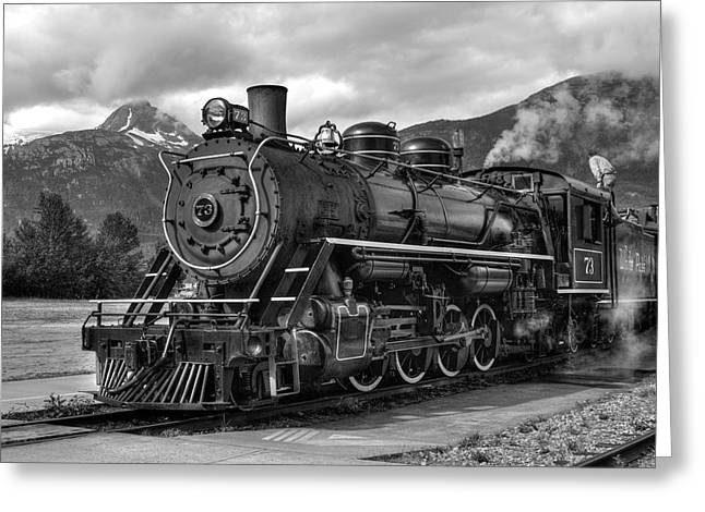 Klondike Gold Rush Greeting Cards - Engine 73 Greeting Card by Dawn Currie
