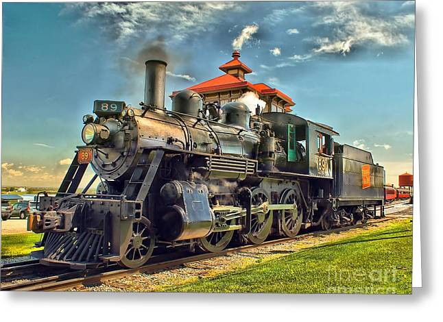 Strasburg Greeting Cards - Strasburg Railroad 89 E-10A  Greeting Card by Nick Zelinsky
