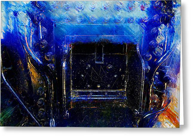 Tap Paintings Greeting Cards - Engine Greeting Card by Carl Rolfe