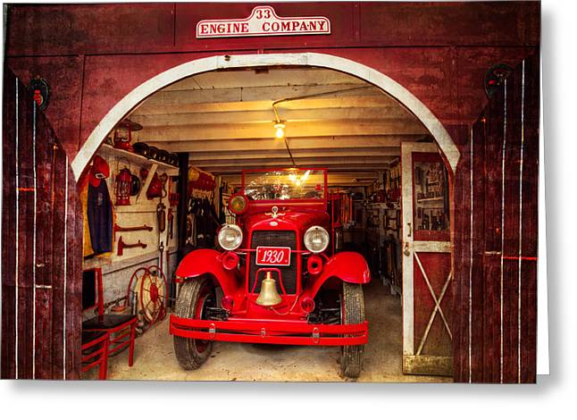 Tennessee Barn Greeting Cards - Engine Company 33 Greeting Card by Debra and Dave Vanderlaan