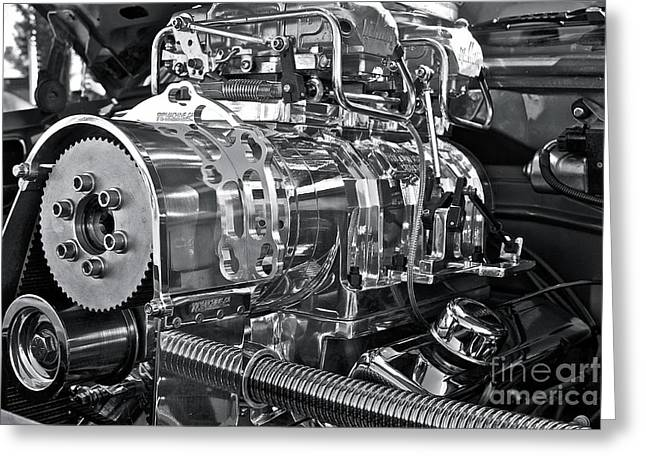 Manual Greeting Cards - Engine Envy Greeting Card by Linda Bianic