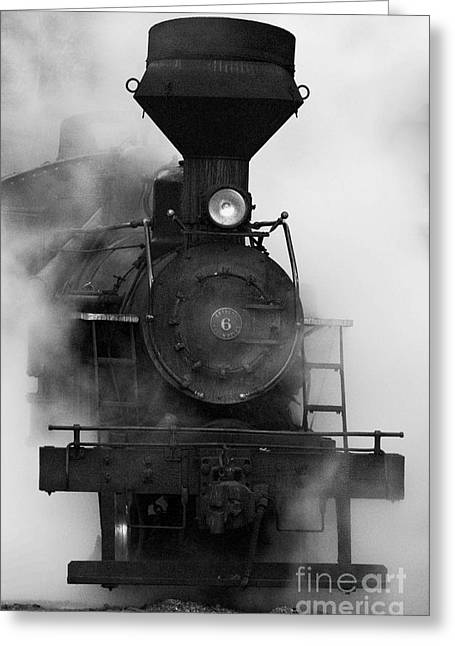 White Digital Art Greeting Cards - Engine No. 6 Greeting Card by Jerry Fornarotto