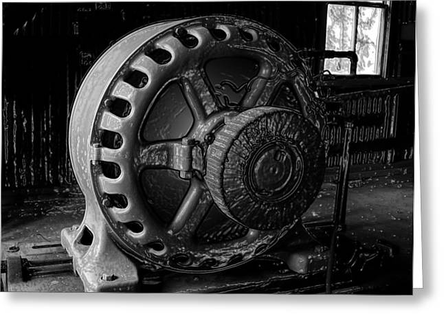 Shed Digital Art Greeting Cards - Engine of a mad scientist Greeting Card by David Lee Thompson