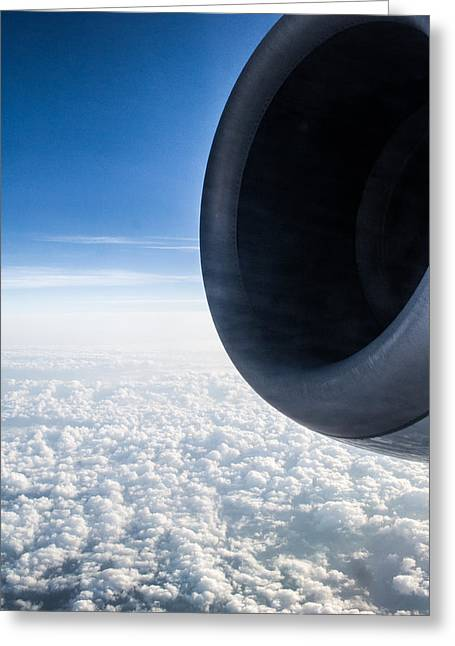 Plane Engine Greeting Cards - Engine of a Plane Greeting Card by Shelby  Young