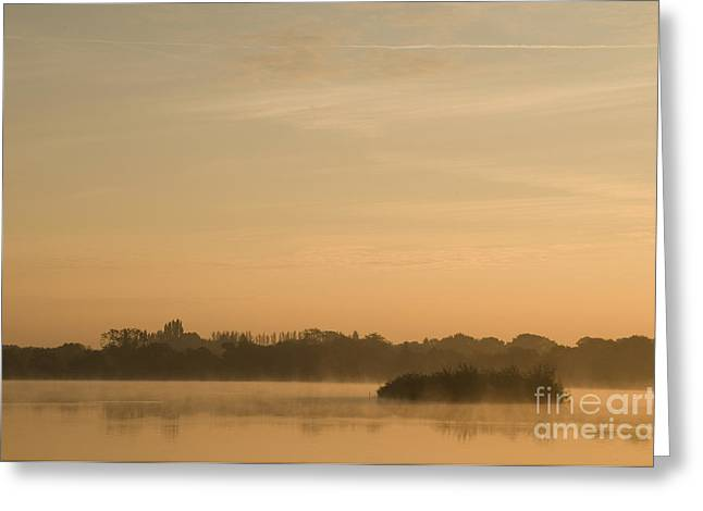 Haze Greeting Cards - Engine Pool Sunrise Greeting Card by Anne Gilbert