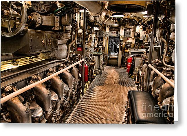 Undersea Photography Greeting Cards - Engine Room Greeting Card by Jon Burch Photography