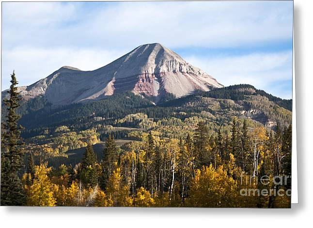 Colorado Pyrography Greeting Cards - Engineer Mountain Colorado Greeting Card by David  King