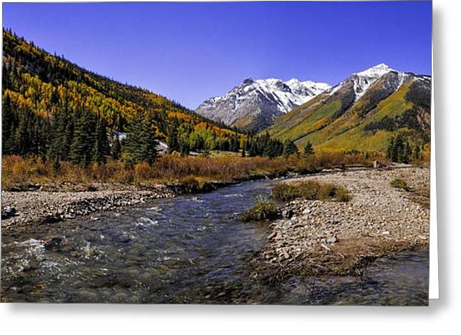 Scenic Drive Greeting Cards - Engineer Pass Panorama Greeting Card by Teri Virbickis