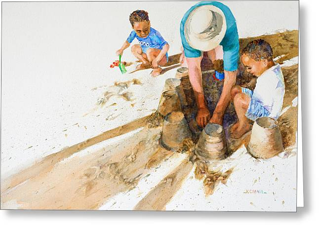 Recently Sold -  - Sand Castles Greeting Cards - Engineering 101 Greeting Card by Kristin Nail