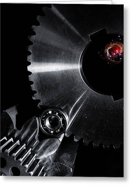 Stainless Steel Greeting Cards - Engineering Titanium And Space Greeting Card by Christian Lagereek