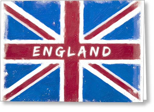 England Distressed Union Jack Flag Greeting Card by Mark E Tisdale
