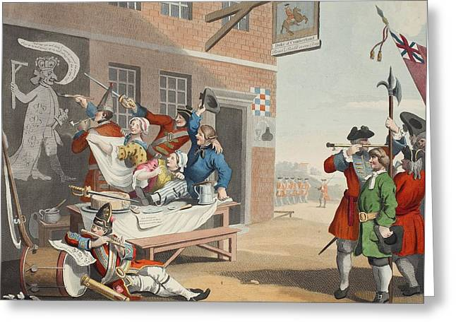 Poking Greeting Cards - England, Illustration From Hogarth Greeting Card by William Hogarth
