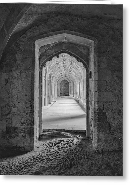 England, Lacock Abby, Entryway Greeting Card by John Ford