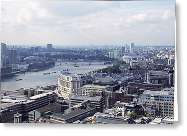 London Structure Greeting Cards - England, London, Aerial View From St Greeting Card by Panoramic Images