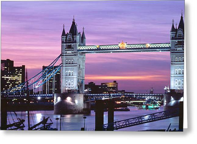 London Structure Greeting Cards - England, London, Tower Bridge Greeting Card by Panoramic Images