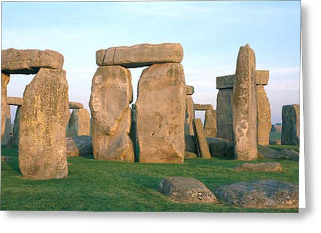 Lintel Greeting Cards - England, Wiltshire, Stonehenge Greeting Card by Panoramic Images