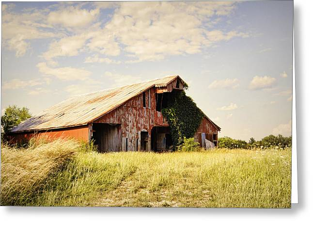 Englewood Greeting Cards - Englewood Barn Greeting Card by Cricket Hackmann