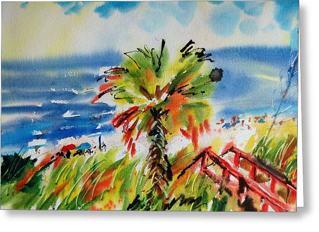 Englewood Greeting Cards - Englewood Beach Greeting Card by JULES Buffington