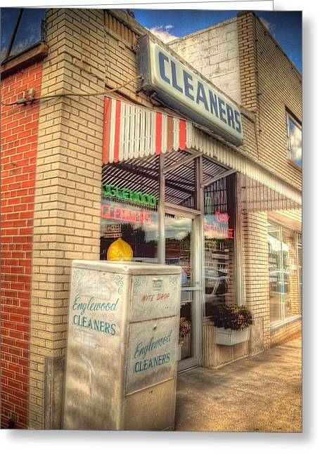 Englewood Greeting Cards - Englewood Cleaners 4540 Greeting Card by Timothy Bischoff
